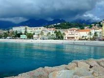 Menton, Cote'd Azur,法国 库存照片