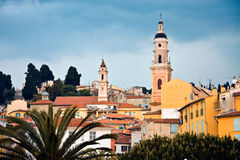 Menton. The typical village Menton in the French Riviera royalty free stock photography