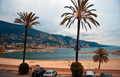 Menton. The gulf in front of Menton in the French Riviera Royalty Free Stock Photos
