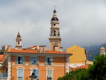 Menton - Bell tower Royalty Free Stock Image