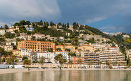 Menton city in February, French Riviera Stock Photos