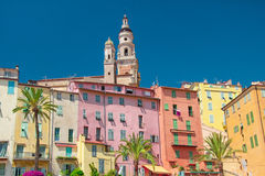 Menton. Colourful Menton, the french riviera Royalty Free Stock Photo