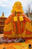 Menton, França February20: 82th festival do limão (Festa du Cidra) em Menton em Riviera francês Menton, França - 20 de fevereiro  Foto de Stock
