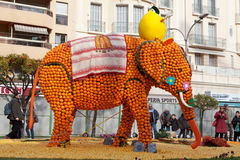 MENTON, FRANCE - FEBRUARY 27: Lemon Festival (Fete du Citron) on the French Riviera Stock Photo