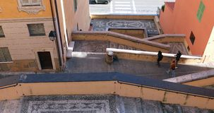 Picturesque Stairs In The Old City Of Menton France stock video footage