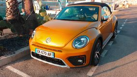 Volkswagen Beetle Dune Convertible stock footage