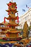 MENTON FRANCJA, LUTY, - 27: Cytryna festiwal na Francuskim Riviera. (feta Du Cedrat) fotografia royalty free