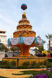MENTON, FRANKREICH - 27. FEBRUAR: Zitronen-Festival (Fete du Citron) auf dem französischen Riviera. Lizenzfreie Stockbilder