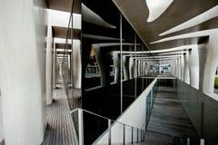 MENTON FRANKRIKE - SEPTEMBER 15: Enorm fasad av museet av konstnären Jean Cocteau Arkivbilder