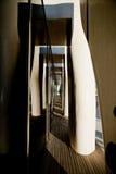 MENTON FRANKRIKE - SEPTEMBER 15: Enorm fasad av museet av konstnären Jean Cocteau Royaltyfria Foton