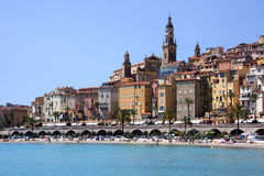 Menton - franska Riviera - söder av Frankrike Fotografering för Bildbyråer