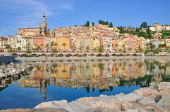 Menton,French Riviera. View of Menton on the french Riviera in the South of France Royalty Free Stock Photo