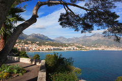 Menton, French Riviera. View of Menton, French Riviera Royalty Free Stock Image