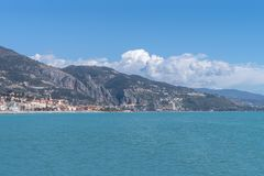 Menton, French Riviera. View of littoral Royalty Free Stock Photo