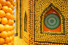 Free Menton Lemon Festival 2018, Bollywood Theme Art Made Of Lemons And Oranges Stock Image - 111387511