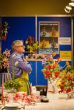 Menton Lemon Festival 2018, Bollywood Orchid Exposition, man selling flowers Stock Images