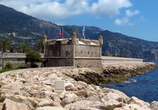 Menton - Medieval citadel. Medieval citadel at Menton. Now it is Jean Cocteau Museum. Menton is a small seaside town on the French Riviera, France royalty free stock photography