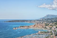 Menton city on the French Riviera Stock Photo