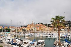Menton promenade Royalty Free Stock Images