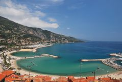 Menton promenade Stock Photos
