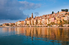 Menton Provence village view Stock Images