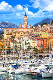 Menton . south of France Royalty Free Stock Photography