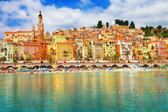 Menton, south of France. Sunny Menton, south of France Stock Images