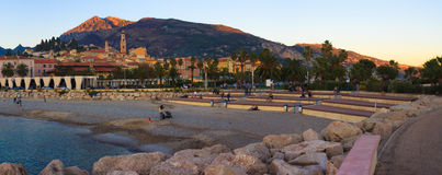 Menton Sunset, France Royalty Free Stock Photos