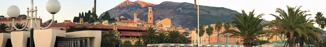 Menton Sunset, France Stock Images