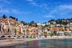 Seaside Town of Menton in France Stock Images