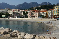 Menton town on French Riviera Stock Images