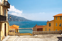 Menton village. Near italian border Royalty Free Stock Photo