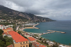 Menton village near italian border Royalty Free Stock Photo
