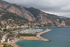 Menton village near italian border Stock Photos