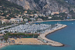 Menton village near italian border Royalty Free Stock Photography