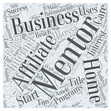 A Mentor Can Make You a Smashing Success word cloud concept vector background Royalty Free Stock Photography