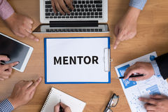 MENTOR CONCEPT royalty free stock photo