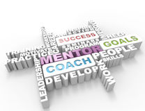 Mentor 3d word Royalty Free Stock Images