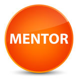 Mentor elegant orange round button Stock Photo