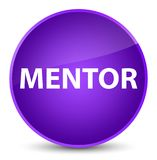Mentor elegant purple round button Stock Photo