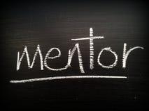 Mentor escrito em um quadro-negro Fotografia de Stock