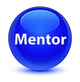 Mentor glassy blue round button Royalty Free Stock Photography