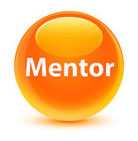 Mentor glassy orange round button Royalty Free Stock Photos