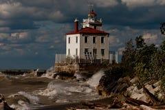 Mentor Headlands Lighthouse. Details of the Mentor Headlands Lighthouse, Mentor, Ohio (USA Stock Photography