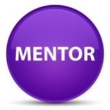 Mentor special purple round button Royalty Free Stock Image