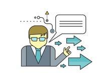 Mentor-Konzept-Ikone Stockfoto