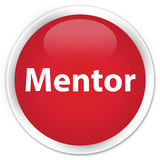 Mentor premium red round button Stock Photo