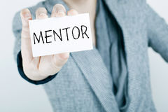 Mentor royalty free stock photos