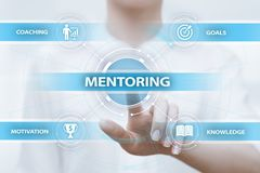 Mentoring Business Motivation Coaching Success Career concept.  stock photos
