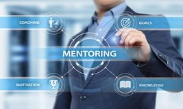 Mentoring Business Motivation Coaching  Success Career concept. Mentoring Business Motivation Coaching Success Career concept Stock Photos
